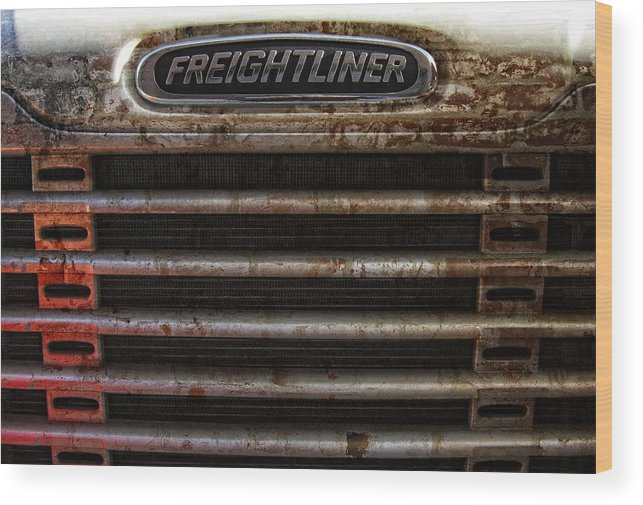 Freightliner Wood Print featuring the photograph Freightliner Highway King by Daniel Hagerman