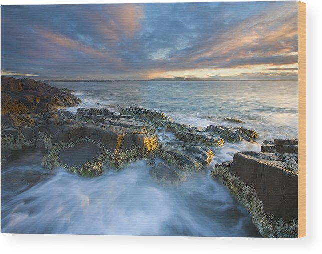 Freycinet Wood Print featuring the photograph Freycinet Cloud Explosion by Mike Dawson