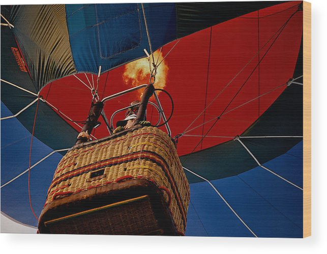Balloon Wood Print featuring the photograph Higher by Lisa Fortin Jackson