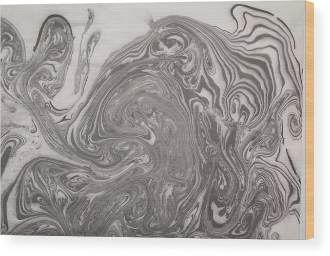 Suminagashi Wood Print featuring the painting Horse by Steve Lucas