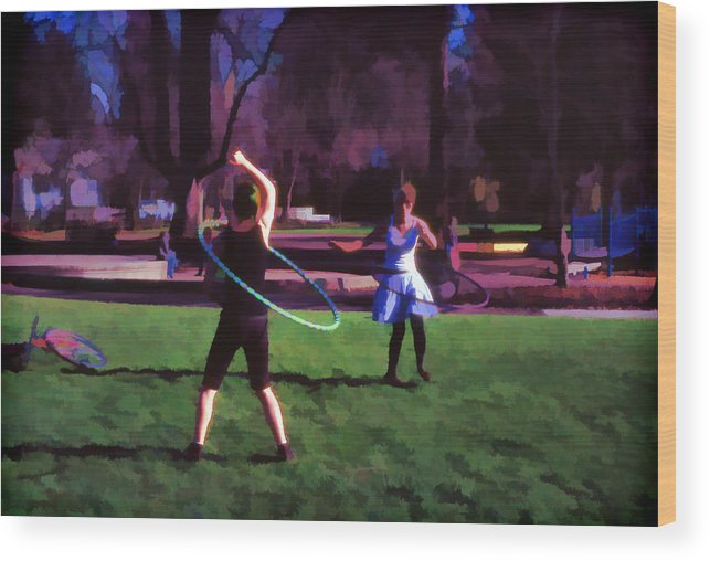 Hula Wood Print featuring the photograph Hula Digital Art By Cathy Anderson by Cathy Anderson