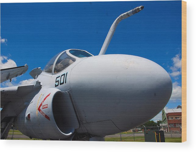 Aviation Wood Print featuring the photograph Intruder by John Schneider