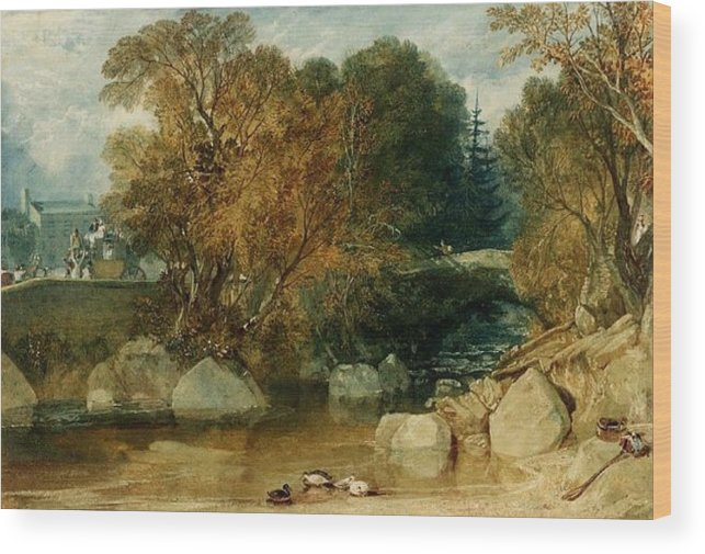 1813 Wood Print featuring the painting Ivy Bridge by JMW Turner