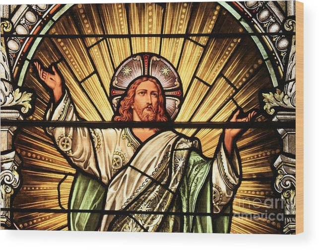 Jesus Wood Print featuring the photograph Jesus - The Light Of The Wold by Adam Jewell