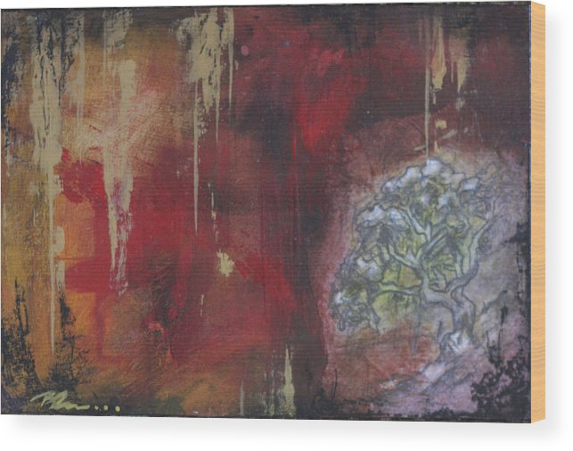 Floral Wood Print featuring the mixed media Life In The Rain by Bhreon Bynum