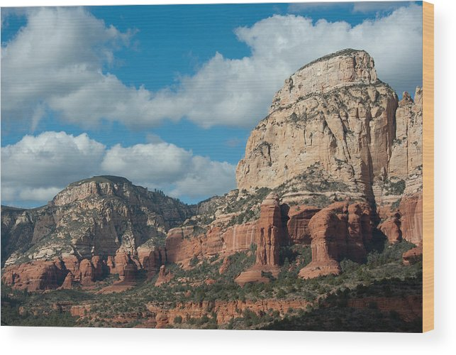 American Wood Print featuring the digital art Long Canyon by Curtis Jones