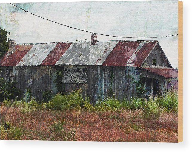 Abandoned Building Wood Print featuring the photograph Long Since Abandoned - Back To Nature by Marie Jamieson