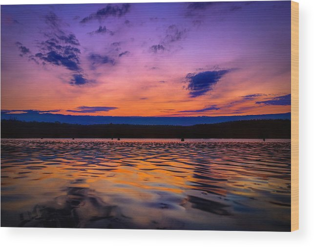 Reflections Wood Print featuring the photograph Mauthe Lake by Anna-Lee Cappaert