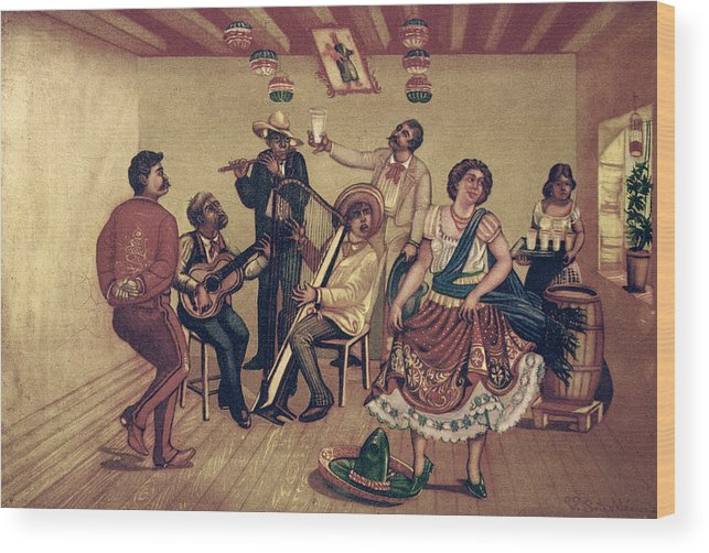 20th Century Wood Print featuring the photograph Mexico: Hat Dance by Granger
