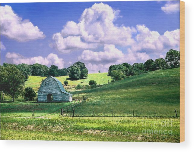 Landscape Wood Print featuring the photograph Missouri River Valley by Steve Karol