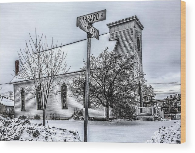 Old Wood Print featuring the photograph Old Church by Ray Congrove