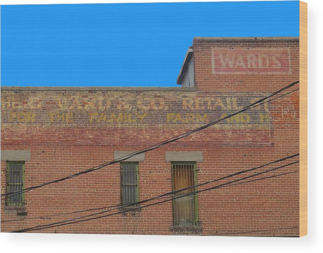 In Focus Wood Print featuring the photograph Old Sign by Dart and Suze Humeston