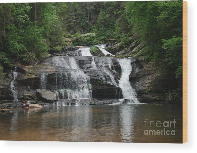 Waterfall Wood Print featuring the photograph Panther Creek Falls by Jim Adams