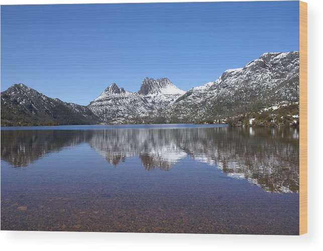 Landscape Wood Print featuring the photograph Peaceful by David Powell