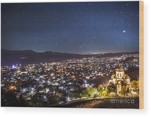 Bitola Wood Print featuring the photograph Peaceful Night In Bitola by Dejan Cvetkovski