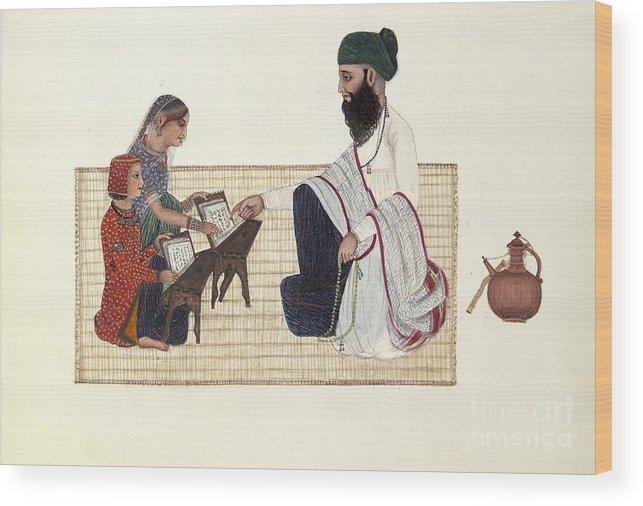 Human Wood Print featuring the photograph Punjabi Schoolmaster, Artwork by British Library