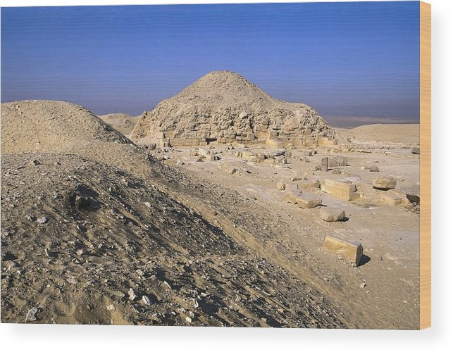 Horizontal Wood Print featuring the photograph Pyramid Of Unas. 2375 -2345 Bc. Egypt by Everett