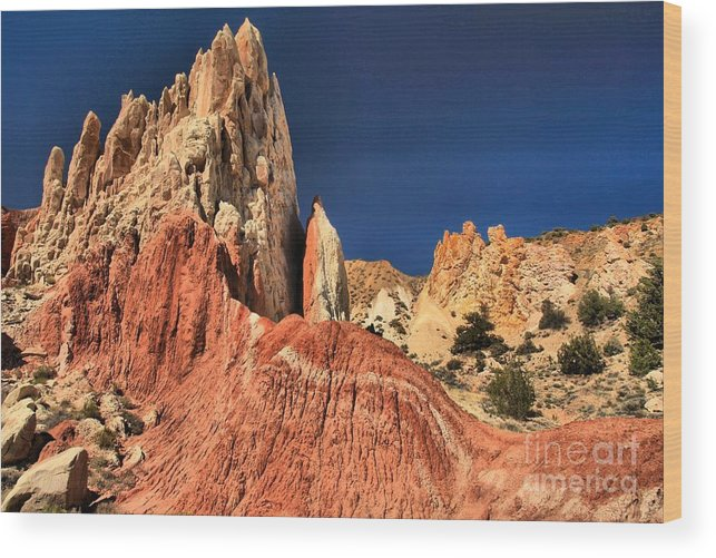 Cottonwood Road Wood Print featuring the photograph Rough Rainbow Colors by Adam Jewell
