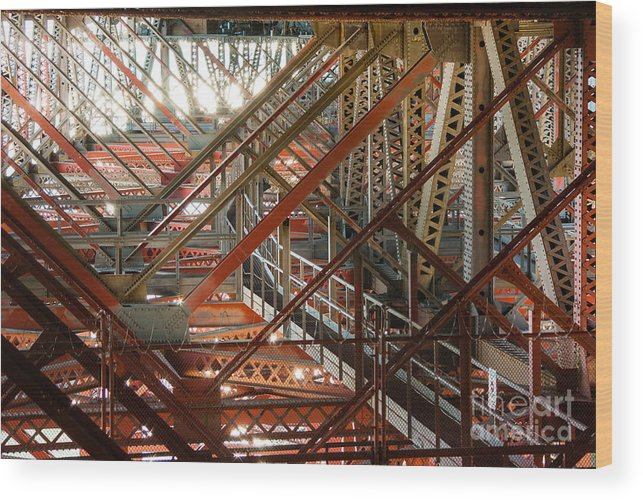 San Francisco Bay Bridge Wood Print featuring the photograph San Francisco Bay Bridge 1.6994 by Stephen Parker