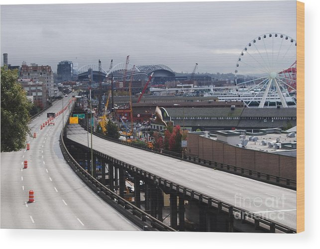 Wood Print featuring the photograph Seattle by Brandon Finister