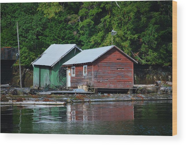 Wooden Wood Print featuring the photograph Shacks In Alaska by Richard Jenkins