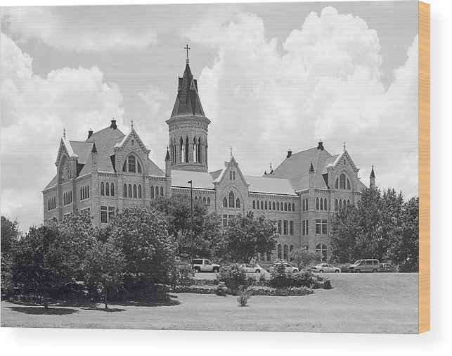 St. Edwards University Wood Print featuring the photograph St. Edward's University Old Main I I by Jim Smith