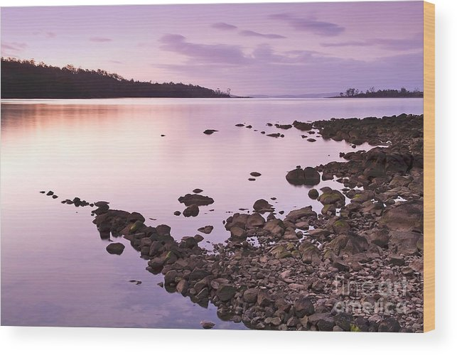 Background Wood Print featuring the photograph Sunset Rocks by Tim Hester