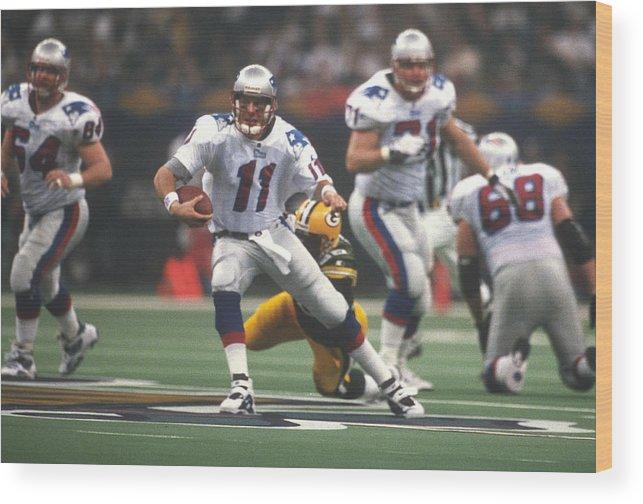 aaebdbc09 Super Bowl Xxxi Wood Print featuring the photograph Super Bowl Xxxi - New  England Patriots V