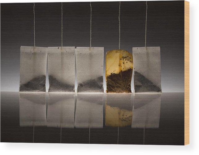 Tea Wood Print featuring the photograph Teascape by Wieteke De Kogel