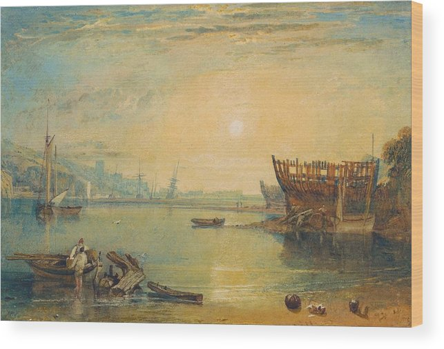 1813 Wood Print featuring the painting Teignmouth - Devonshire by JMW Turner