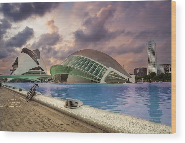 Valencia Wood Print featuring the photograph The Eye Of Valencia by Fabio Mancino