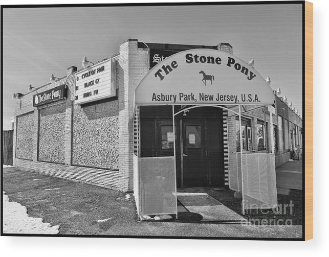Clarence Clemons Wood Print featuring the photograph The House That Bruce Built II - The Stone Pony by Lee Dos Santos