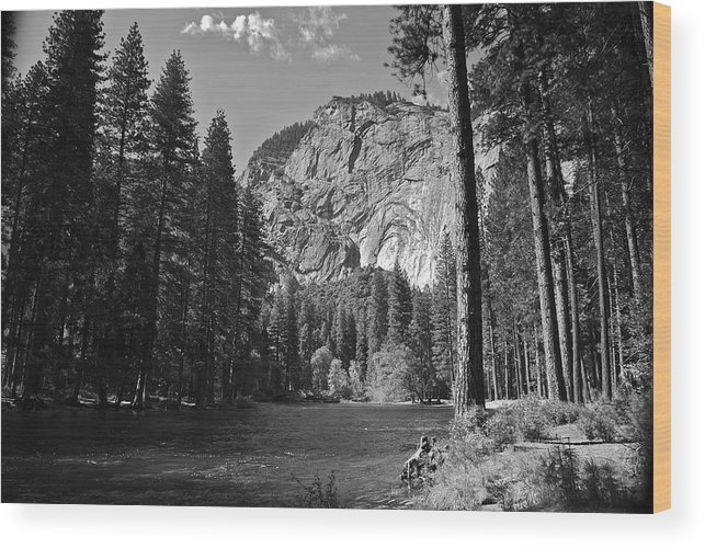 River Wood Print featuring the photograph The River - Yosemite National Park by Jean-Pierre Mouzon