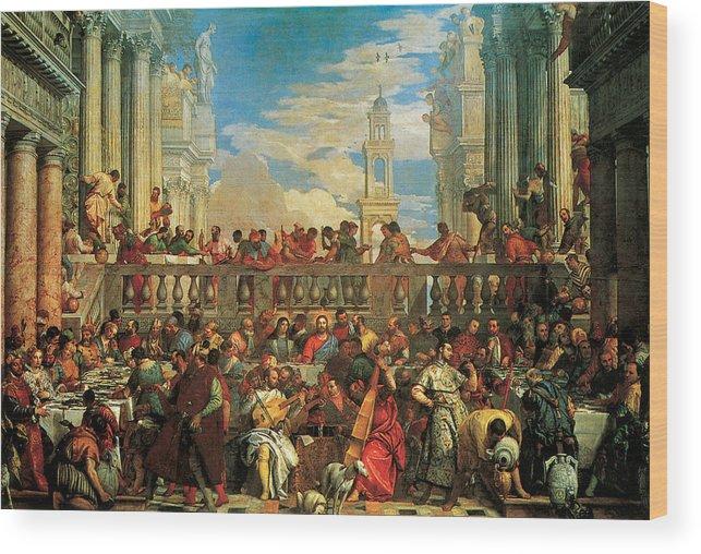 Wedding Feast At Cana.The Wedding Feast At Cana Wood Print