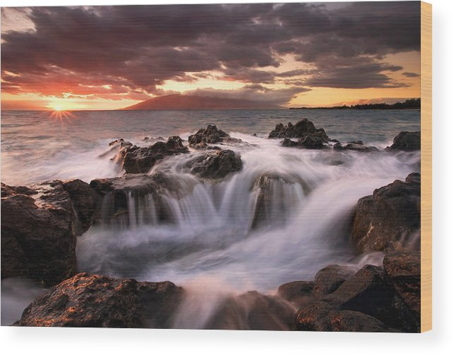 Hawaii Wood Print featuring the photograph Tropical Cauldron by Mike Dawson