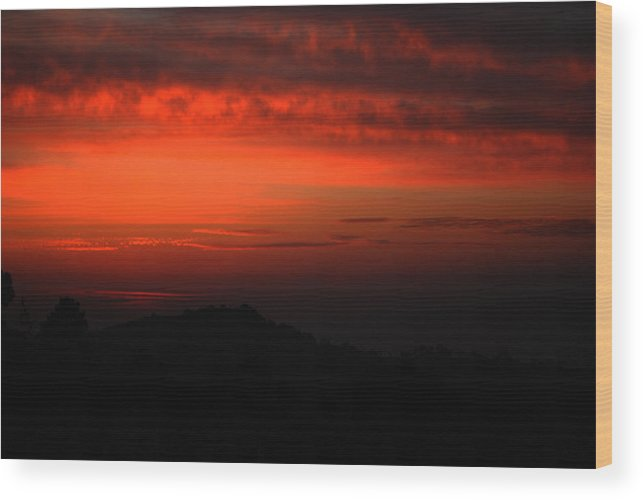 Twilight Wood Print featuring the photograph Twilight- End Of The Day- Viator's Agonism by Vijinder Singh