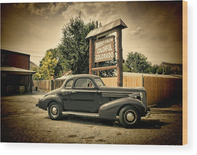 Vintage Car Wood Print featuring the photograph Whisky From Colorful Colorado by Ken Smith