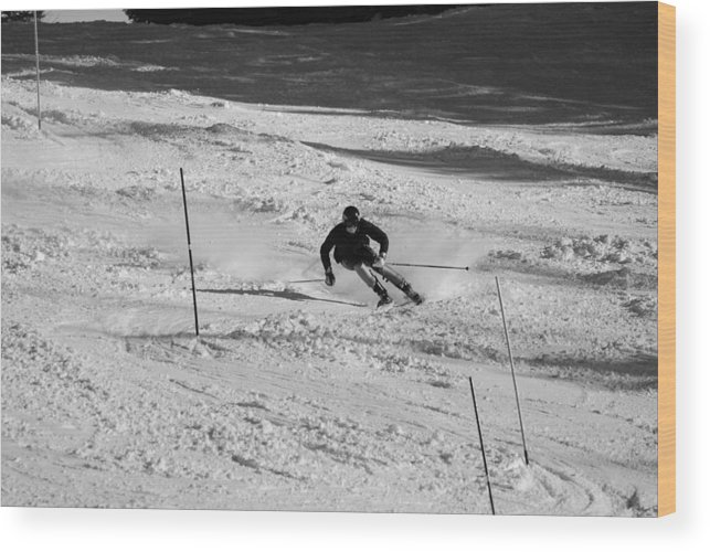 Ski Wood Print featuring the photograph Winter Challenge by Rusty Kidder