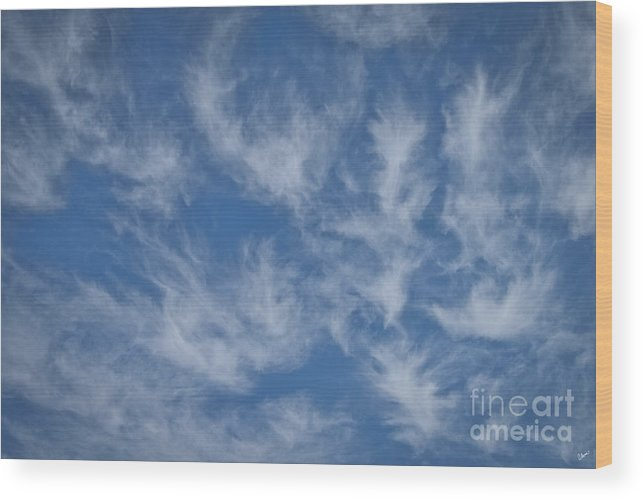 Clouds Wood Print featuring the photograph Wispy Clouds by Alana Ranney