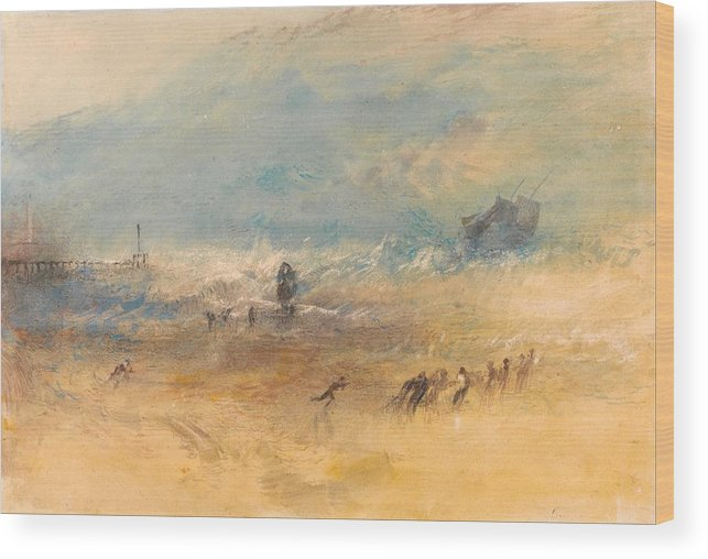 1840 Wood Print featuring the painting Yarmouth Sands by JMW Turner