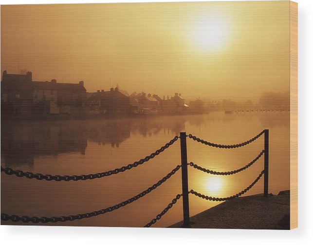 Attraction Wood Print featuring the photograph Athlone, County Westmeath, Ireland Dock by Richard Cummins