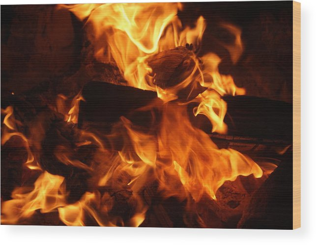 Fire Wood Print featuring the photograph Campfire 2 by Shawna Cansdale