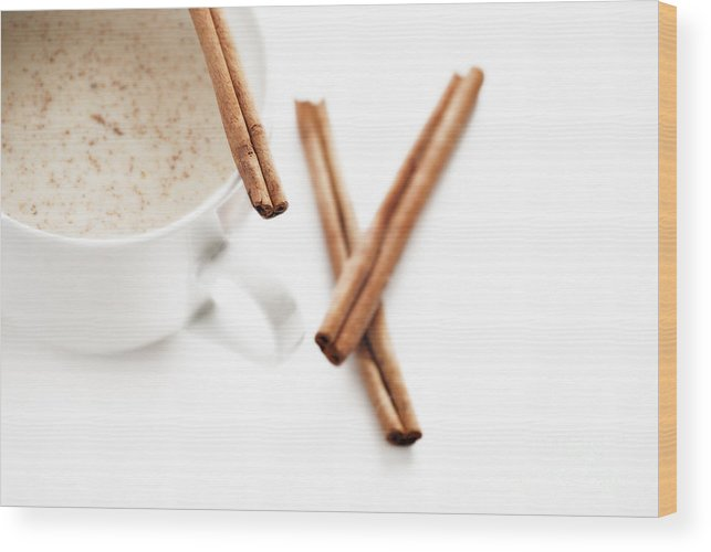 Alcohol Wood Print featuring the photograph Eggnog by HD Connelly