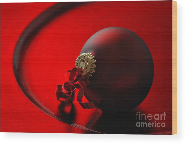 Christmas Wood Print featuring the photograph Christmas Ornaments by HD Connelly