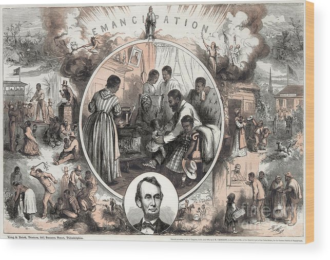 1863 Wood Print featuring the photograph Emancipation Proclamation by Granger