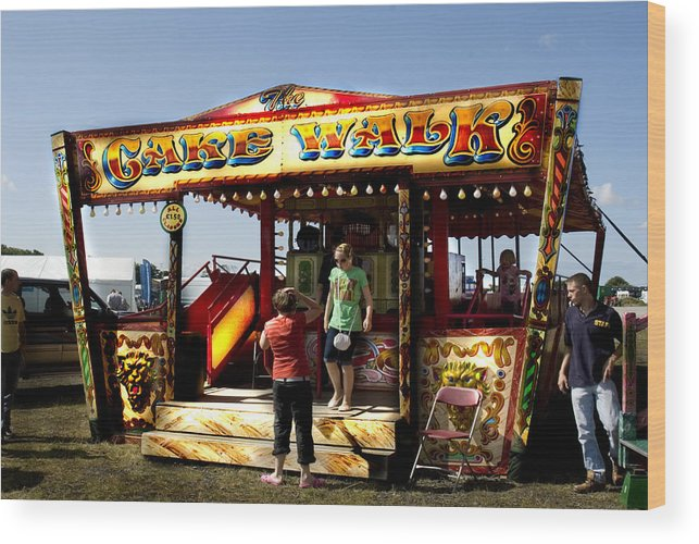 Classic Fairground Ride Wood Print featuring the photograph Cakewalk by Peter Jenkins
