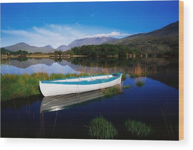 Boat Wood Print featuring the photograph Co Kerry, Lakes Of Killarney by The Irish Image Collection