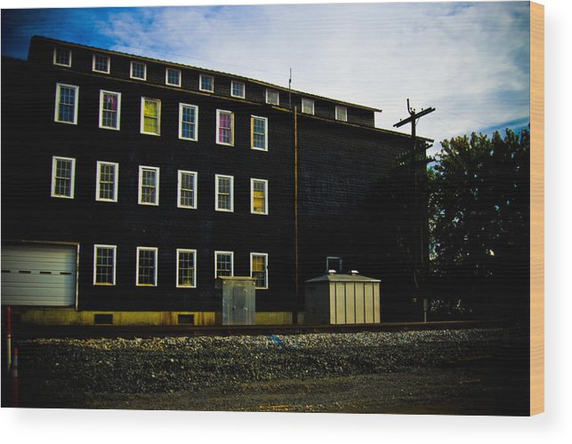 Windows Wood Print featuring the photograph Color Windows by Michael Cunsolo