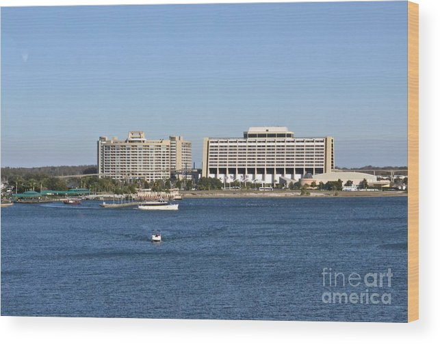 Hotel Wood Print featuring the photograph Contemporary Hotel by Carol Bradley