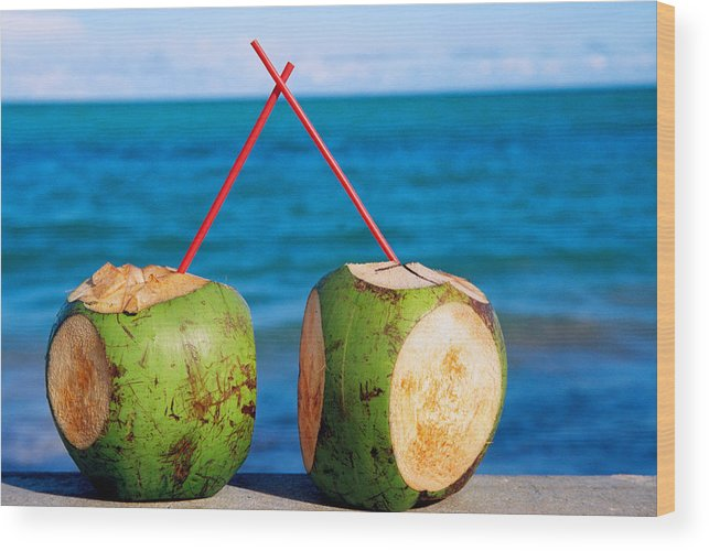 Brazil Wood Print featuring the photograph Drink By The Sea by Claude Taylor